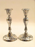 A pair of silver 
