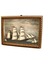 Ship in wooden box 
