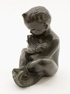 Bronze figure boy 